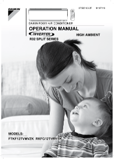 FTKF12TVMVZK,RKFG12TVMVZK Operation Manual EN-AR